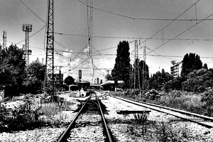 poduene station 2020.06 as graphic bw
