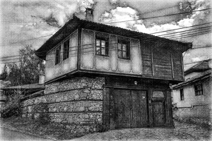 koprivshtitsa 2020.11 as sketch bw